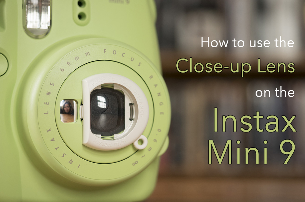 White Instax Selfie and Close Up Lens for Instax Mini 8 Camera