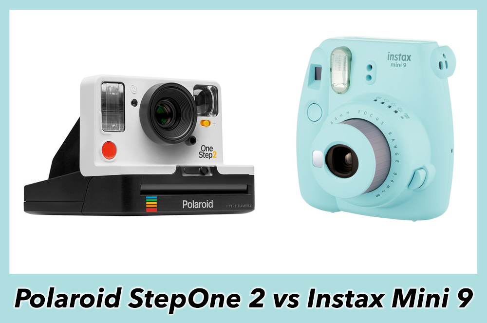 polaroid onestep 2 vs fujifilm instax mini 9 the 5 main differences. Black Bedroom Furniture Sets. Home Design Ideas