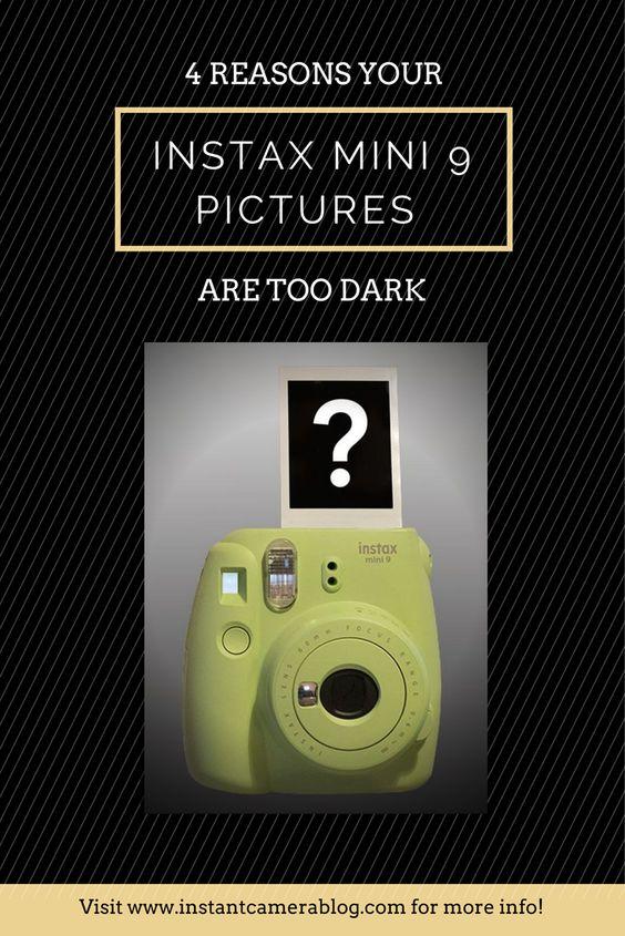 instax mini 9 pictures too dark