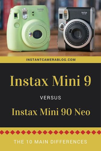 instax mini 9 vs 90