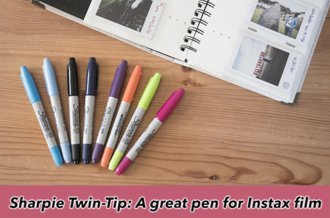 Sharpie Twin-Tip: A great pen for Instax film!