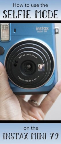 selfie mode instax mini 70