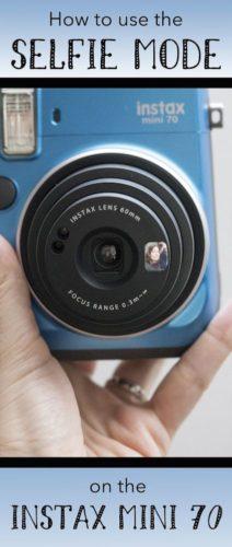selfie mode instax mini 70