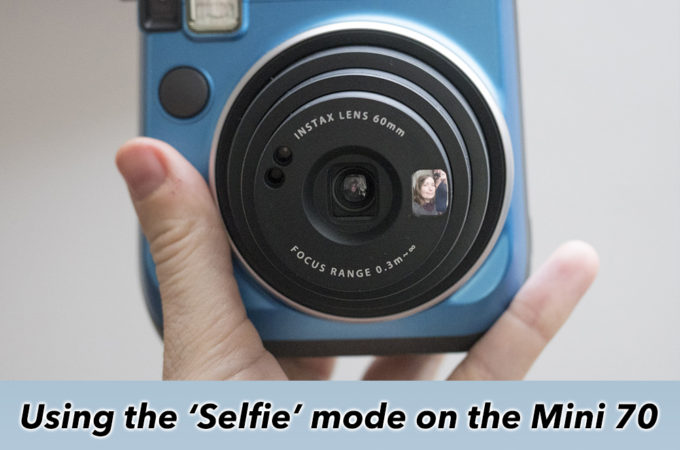 Using the Selfie Mode on the Instax Mini 70
