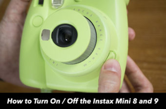 how to turn off instax mini 9