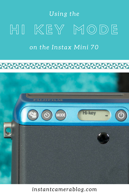 instax mini 70 high key