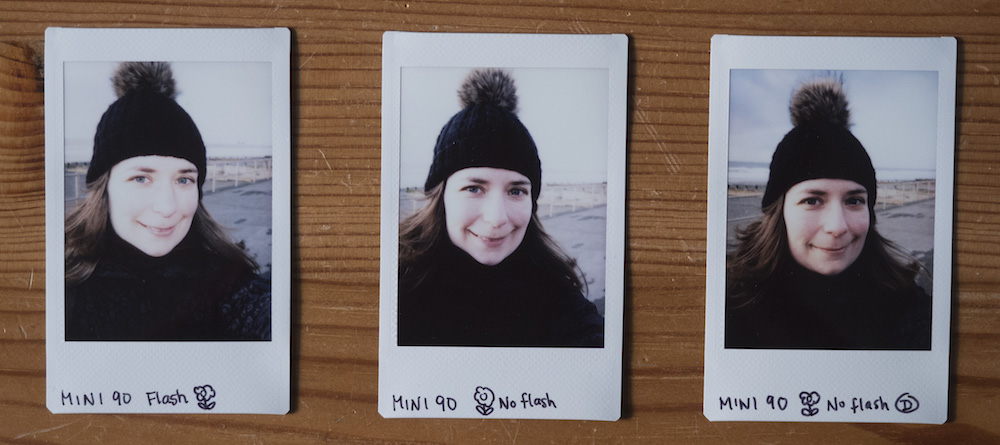 instax mini 90 selfies