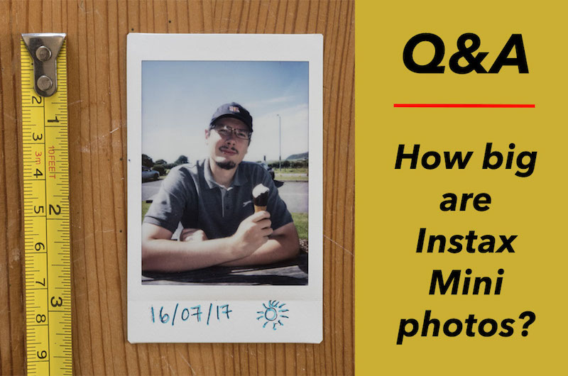how big instax mini photos