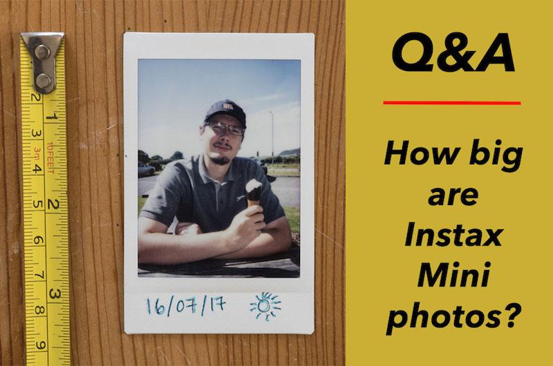how big instax mini photos