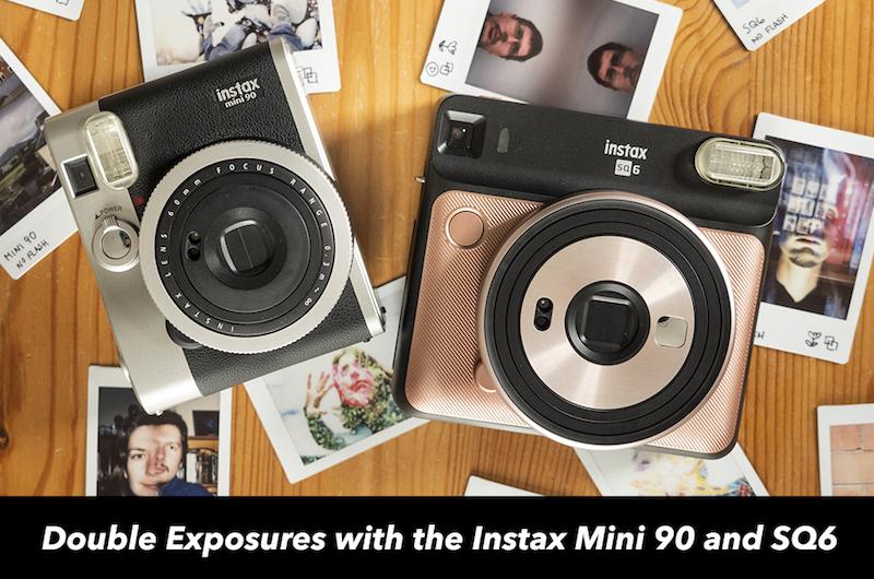 double exposures instax sq6 mini 90