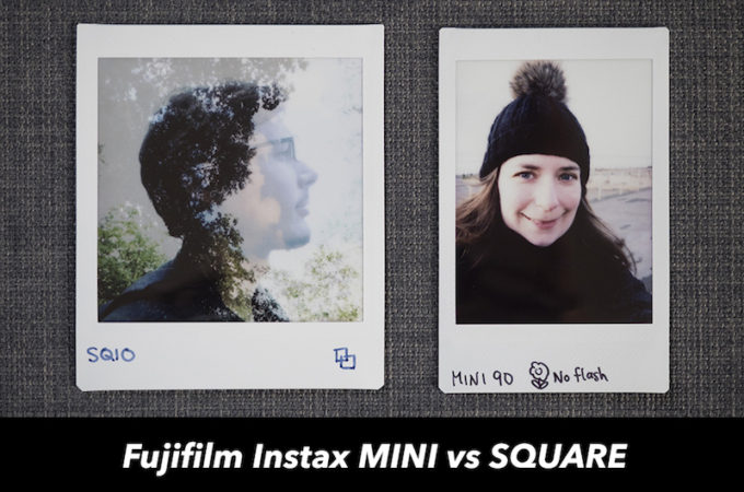 fuji instax mini vs square film