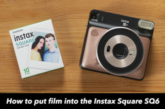 how to put film into instax sq6