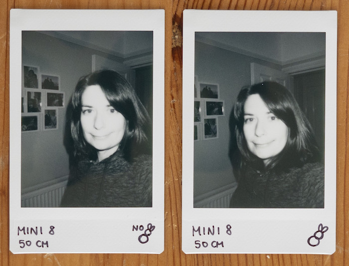 taking selfies with instax mini 8